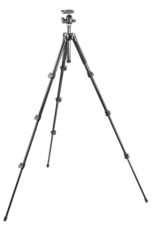 Use a tripod when shooting in the dark. Photo: Manfrotto