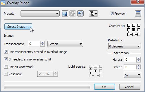 Overlay settings
