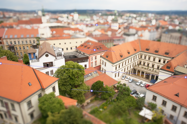 Repositioning the tilt-shift axis.