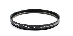 A UV filter is a part of every serious photographer's basic kit. They're easy to attach—they screw onto the lens's front flance