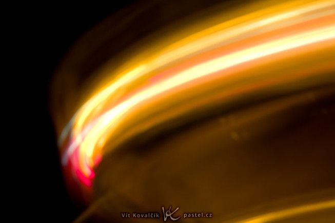 A carousel in action. Note the very high f-number and the long exposure. Canon EOS 5D Mark II, EF Canon EF 70–200 mm f/2.8L II IS USM, 1.3 s, f/16, ISO 100, focus 136 mm. Photo: Vít Kovalčík