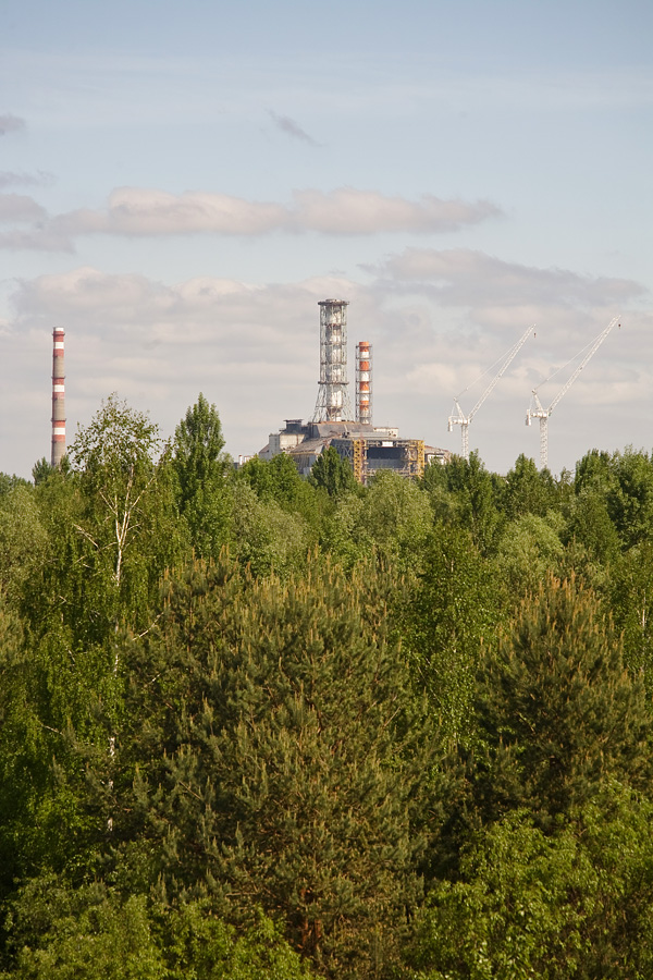 A view from the Bridge of Death into the power plant.