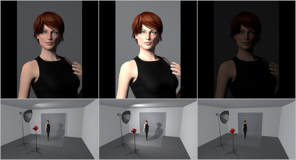 Portrait Lighting I - light intensity