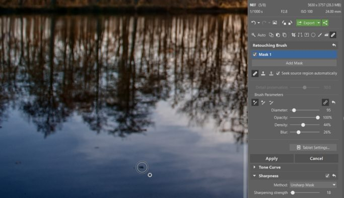How to Edit RAW: retouching minor defects.