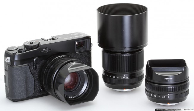 The available Fuji X Pro 1 lenses are mainly fixed lenses. Photo: dpreview.com