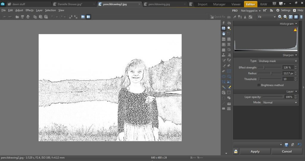 turn photos into coloring book pages with photo studio in three