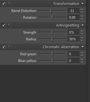 A small barrel distortion correction