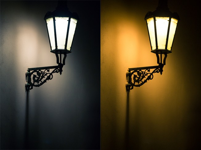 "A lamp with different white balances; neither variant is ""bad."" Canon 5D Mark III, Canon EF 70-200/2.8 IS II, 1/60 s, F2.8, ISO 800, focus 200 mm"