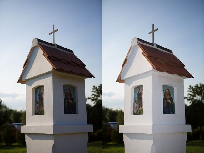 On the left: a photo without flash. On the right: the same scene with a flash used to brighten dark shadows. Canon 5D Mark III, Canon EF 24-70/2.8, 1/2000 s, F2.8, ISO 100, focus 70 mm