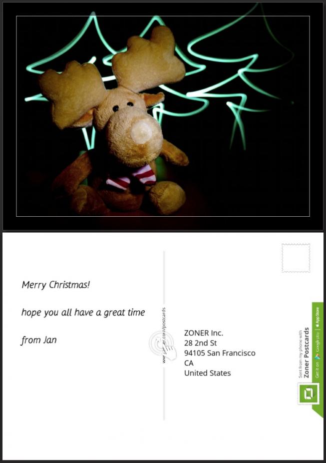 Zoner postcard