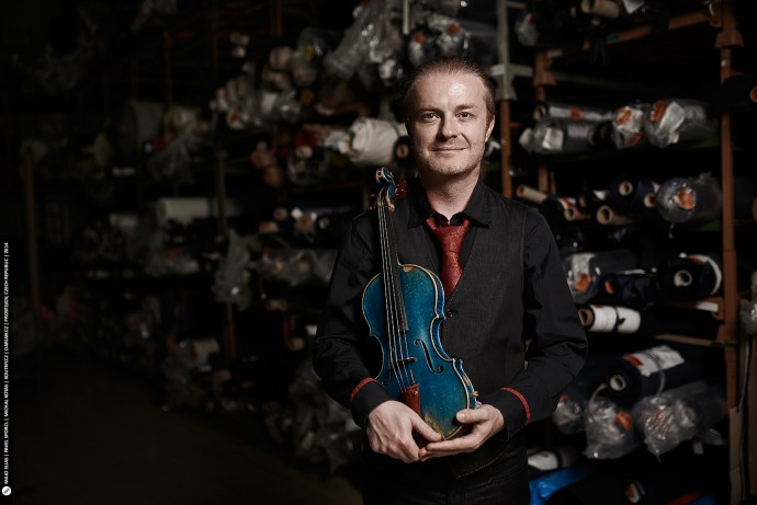 A photo of violinist Pavel Sporcl, nationally-famous within his home country, the Czech Republic.