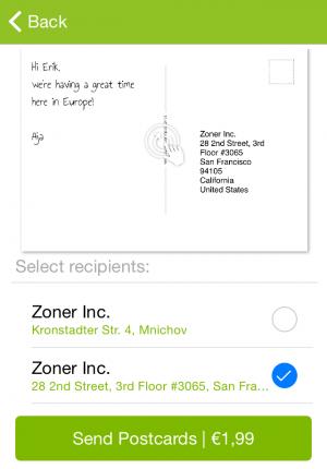 zoner-postcards-address