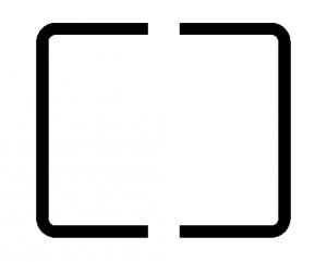 The icon for center-weighted average metering on Canon digital cameras.