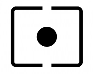 The spot metering icon for Canon DSLRs.