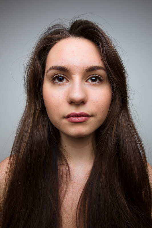 A portrait photographed with a 20 mm focal length.