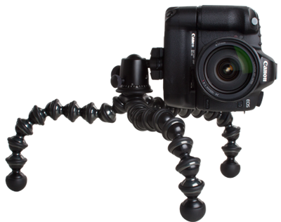 A GorillaPod with a ballhead. Photo: Joby.com/gorillapod
