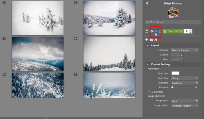 How to Print Multiple Photos on One Page: saving photos for printing in PDF.