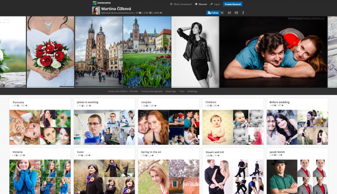 Here's an example of how your photo gallery page might look.