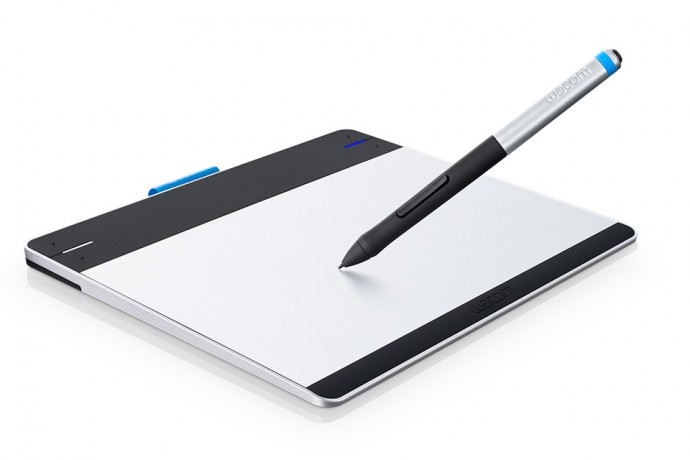A drawing tablet and its pen. A simple and effective tool for work with photographs.