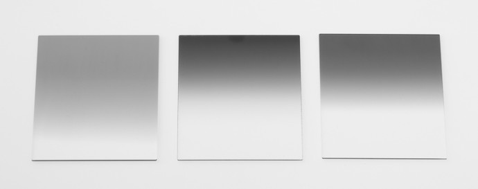 Three gradient filters with different darknesses and gradient types.