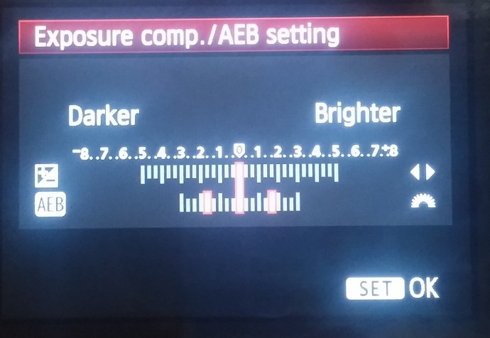 White balance bracketing on the Canon EOS 7D DSLR. Bracketing can also be combined with white balance correction.