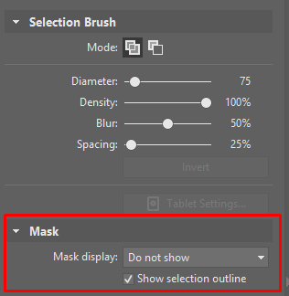 In Zoner Photo Studio, you can work with mask when working with selections.