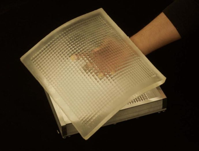 Columbia Engineering researchers have developed a novel sheet camera that can be wrapped around everyday objects to capture images that cannot be taken with one or more conventional cameras. They designed and fabricated a flexible lens array that adapts its optical properties when the sheet camera is bent.