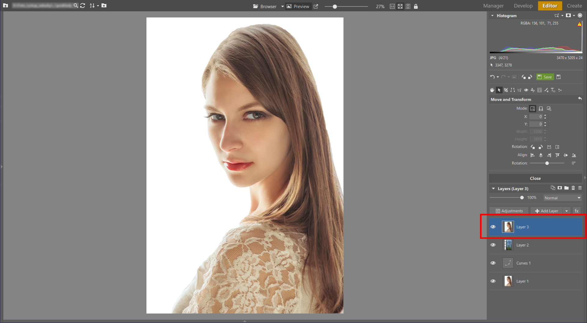 Learn to Create a Double Exposure Effect in ZPS - 3rd layer