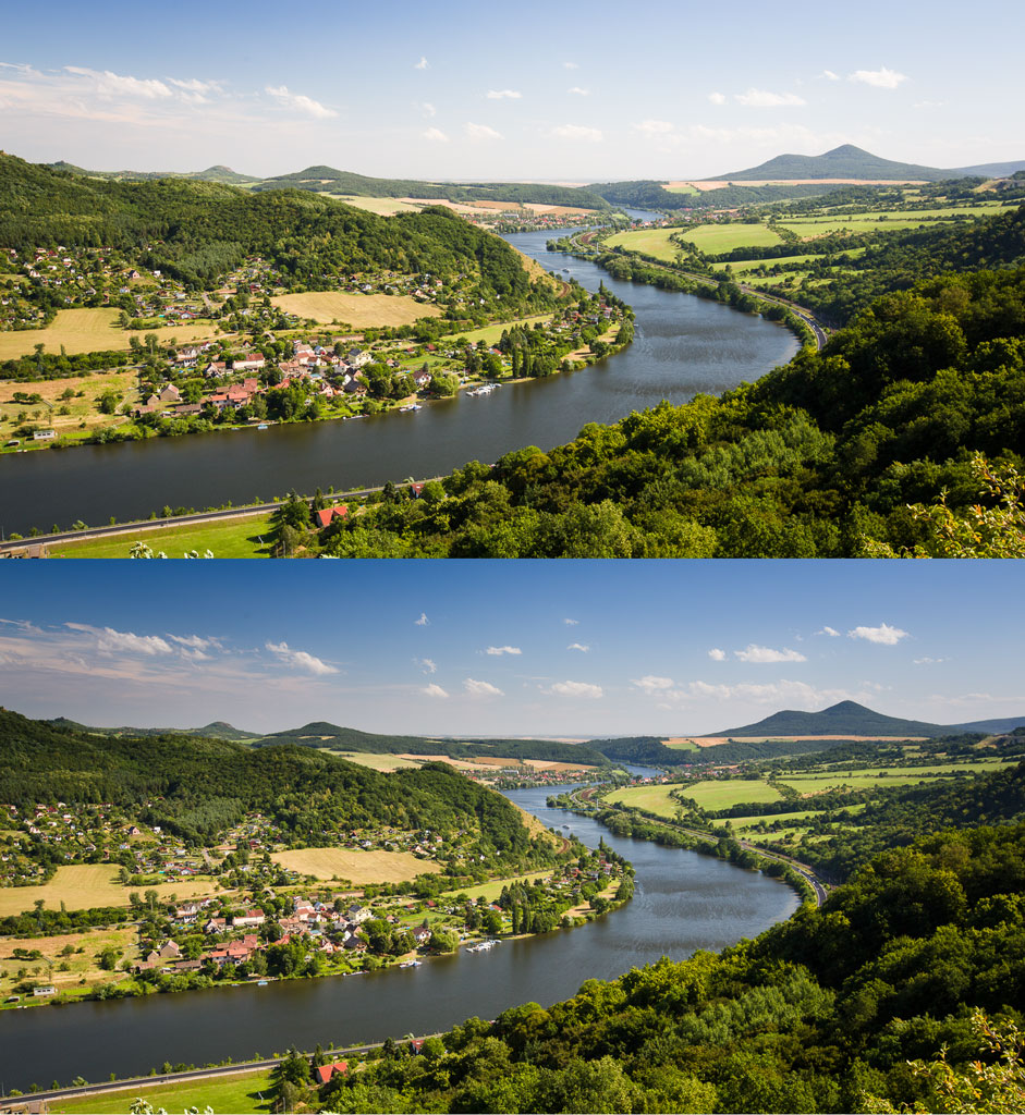 A gradient filter used to darken the sky (above: before applying it; below: after). Canon 5D Mark III, Canon EF 16-35/2.8 II, 1/50 s, f/9.0, ISO 100, focal length 31 mm