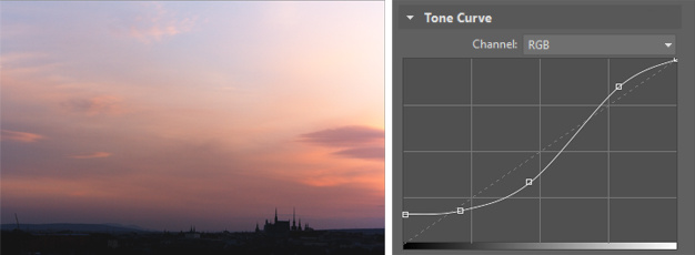 By editing the tone curve, you can get a truly vibrant, high-contrast picture.