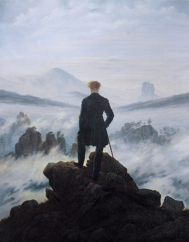 One example to speak for them all: Wanderer above the Sea of Fog (1818) by Caspar David Friedrich
