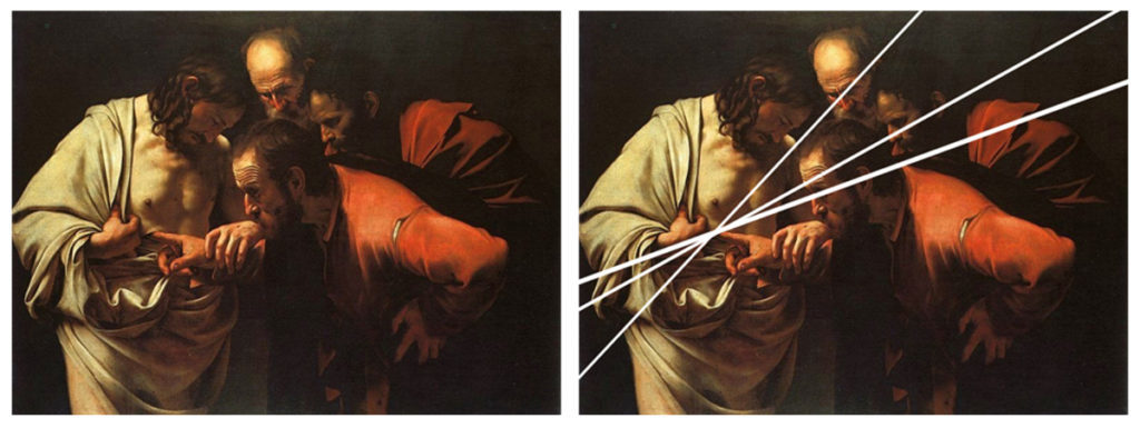 Caravaggio, The Incredulity of Saint Thomas, cca. 1602-1603