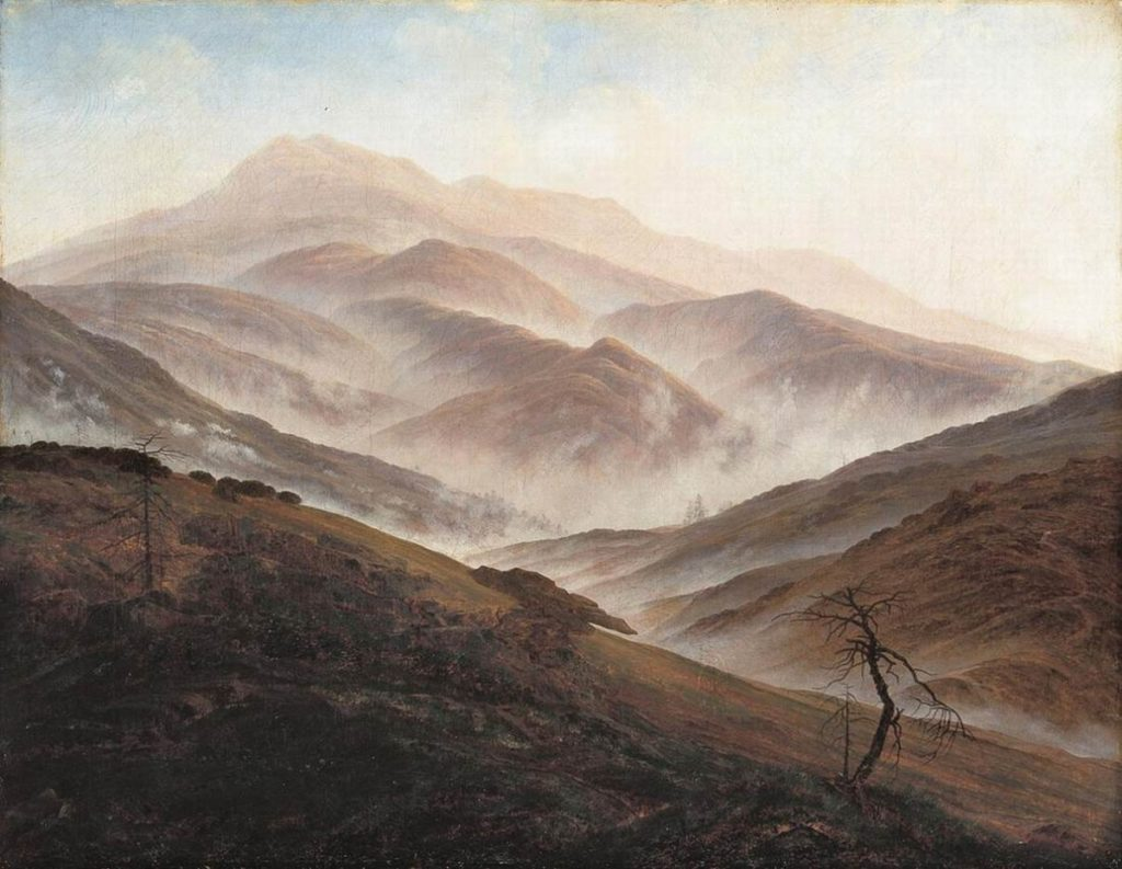 Caspar David Friedrich, Landscape in the Silesian Mountains, cca. 1815-1829