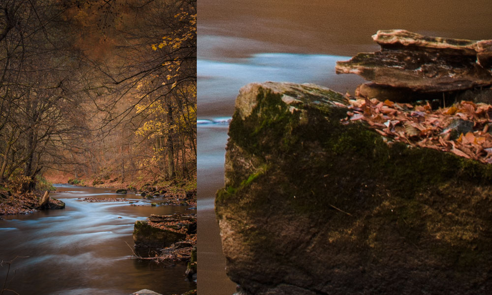 Stabilizer off. Right: a 1:1 close-up. Canon 5D Mark III, Canon EF 70-200/2.8 II, 25 seconds, f/16, ISO 320, focal length 70 mm