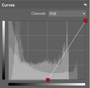 "Setting up the Curves filter to ""darken"" the part of the picture that you don't need to change."