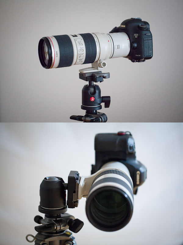 A stable tripod position and a less-stable one.