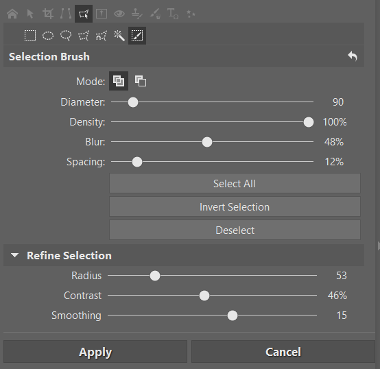Refine Selection Controls