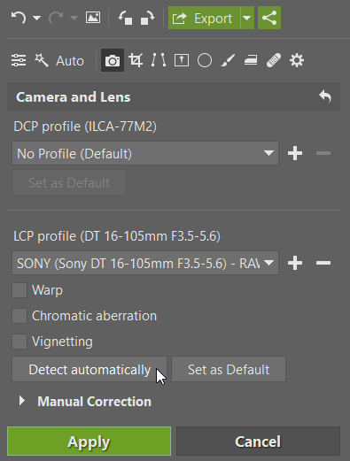 How to Integrate Adobe DNG Converter into ZPS: adding a lens profile.