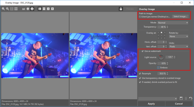 How to Add a Watermark to Photos: a picture watermark.