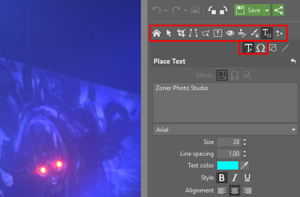 How to Add a Watermark to Photos: object-placement tools.
