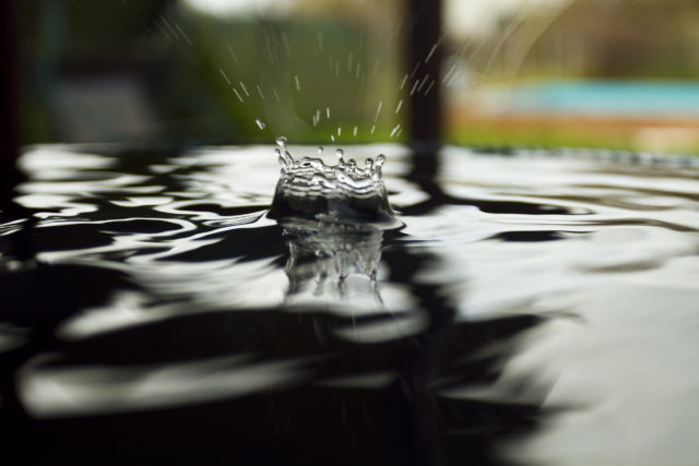 Try to capture a drop at the moment when it touches the water surface. Canon 7D, EF 17-40 f/4 USM, 1/320 s, f/4, ISO 400, 39mm