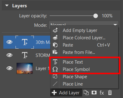 Add a layer with text or a symbol.