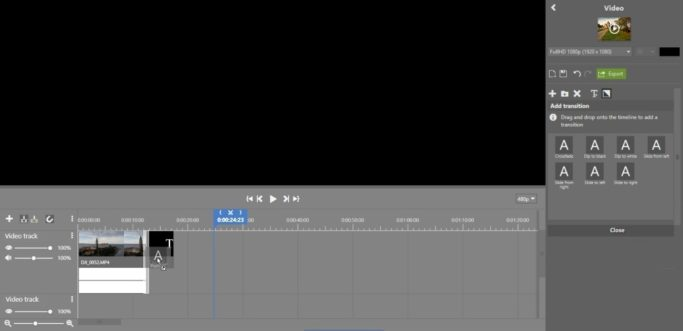 Video Editing in Just a Few Clicks: adding a transition effect.