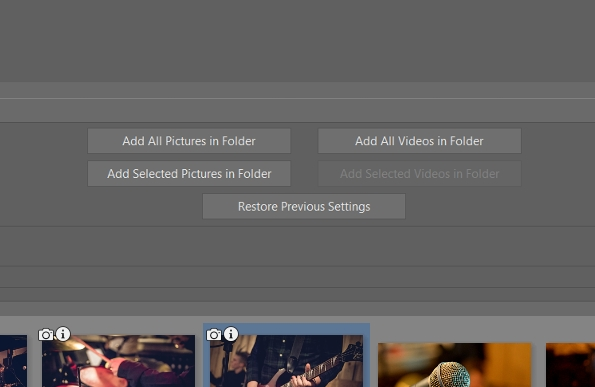 Add videos and photos to the video's timeline.