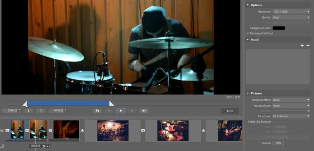 You can also edit the lengths of individual videos.