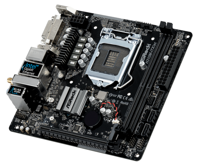 Build a PC Made for a Photographer: An ASRock H310M-ITX/ac motherboard.