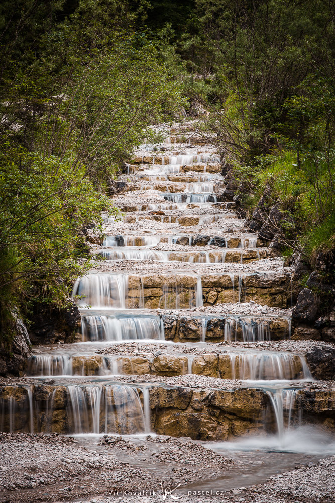 A water cascade in the German Alps.