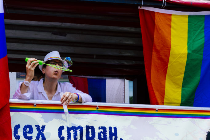 7 Challenges of Reportage Photography: setting changes during Berlin's Christopher Street Day parade.
