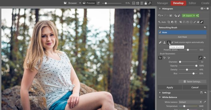 Frequency separation: You'll find Structure Cloning under the Retouching Brush.
