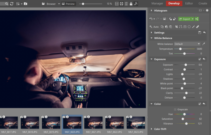 How to Create a Timelapse Video: Edits in the Develop Module.